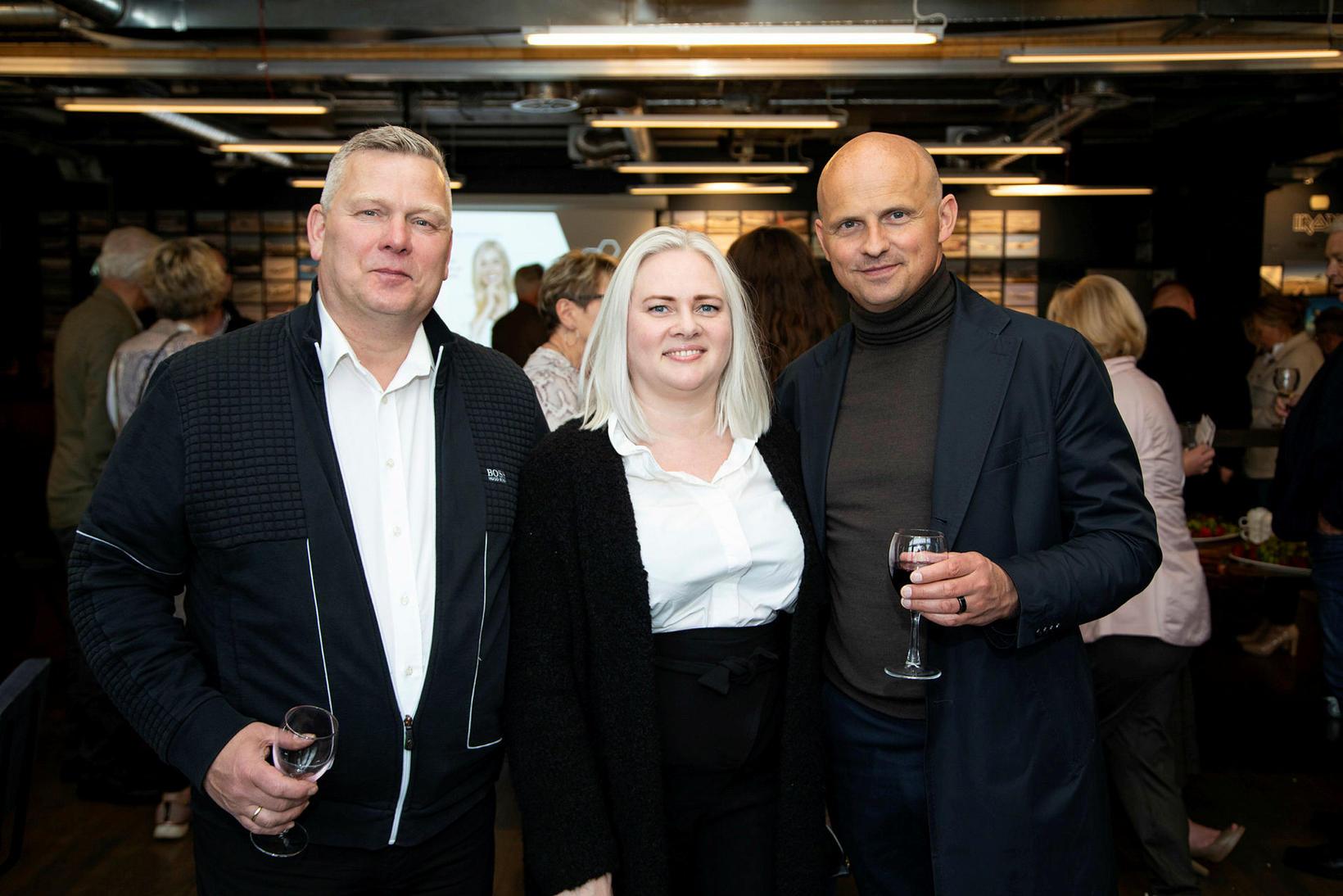 Hlynur Sigurjónsson, Eva Björg Torfadóttir og Jón Þór Guðjónsson.