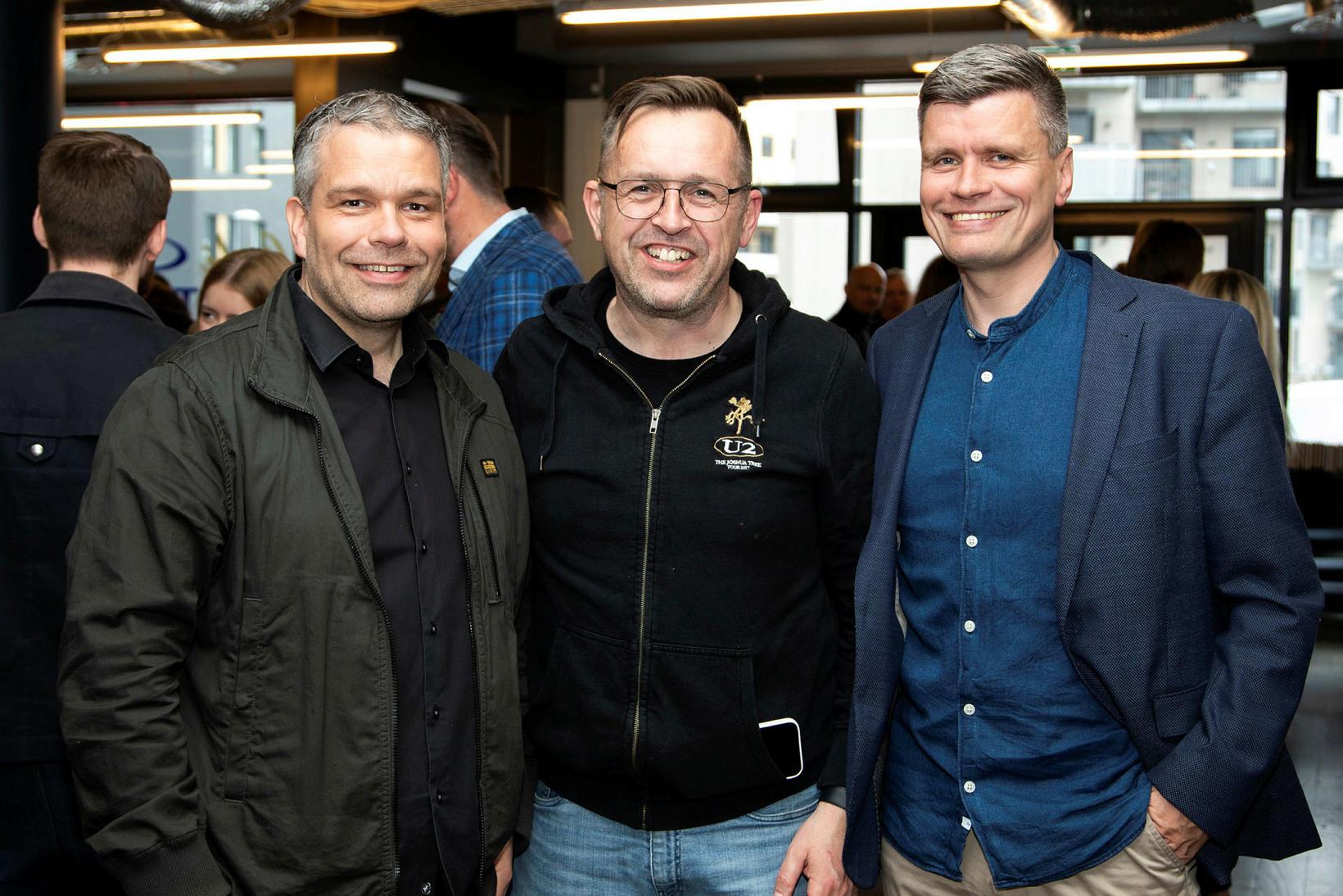 Örólfur Örnólfsson, Árni Jónsson og Sveinn Rögnvaldsson.