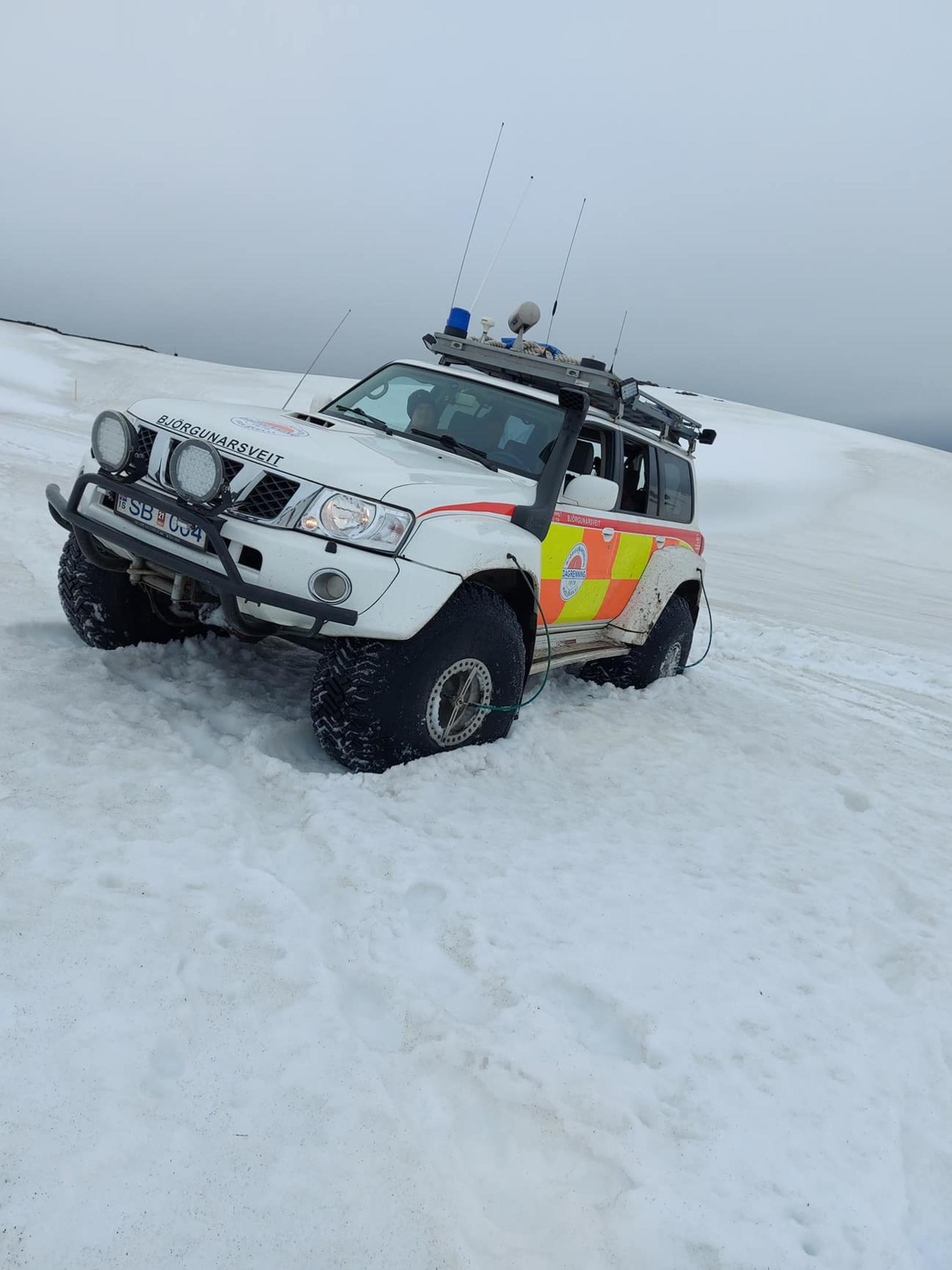 One of the rescue vehicles.