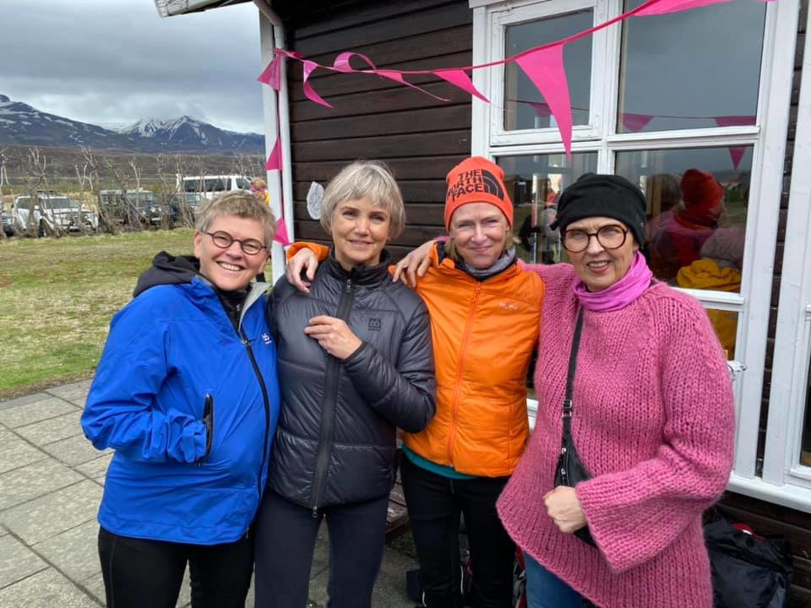 Erna Ingvarsdóttir, Gunnhildur Óskarsdóttir, Kolbrún Friðriksdóttir og Nína Helgadóttir.