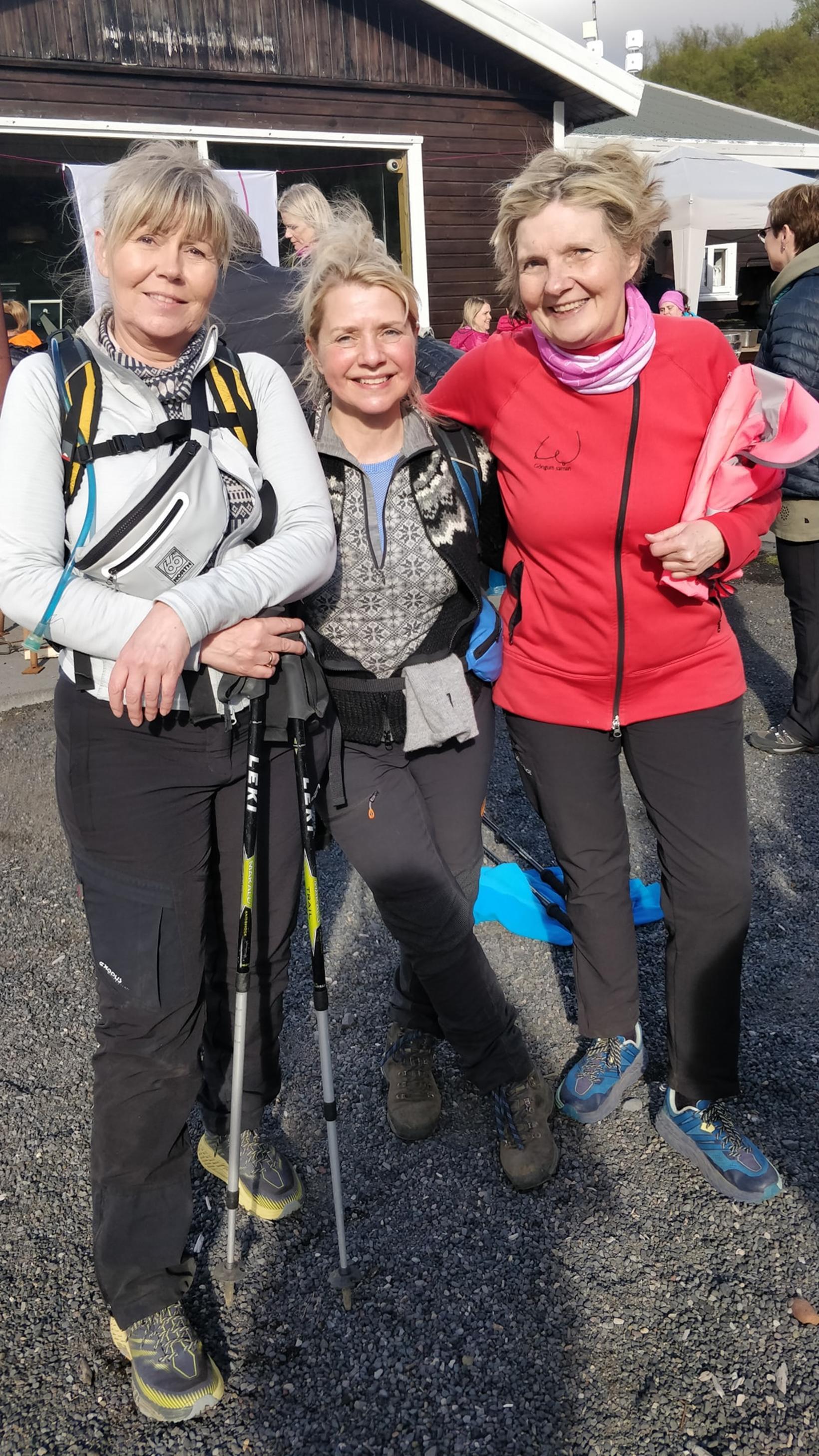 Ragnhildur Vigfúsdóttir, Guðlaug Elín Bjarnadóttir og Jónína Eir Hauksdóttir.