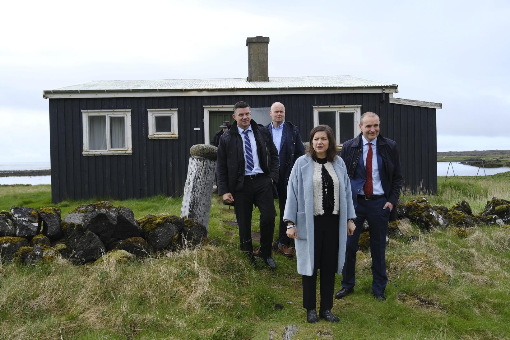 Hús Einars Benediktssonar í Herdísarvík í Selvogi.