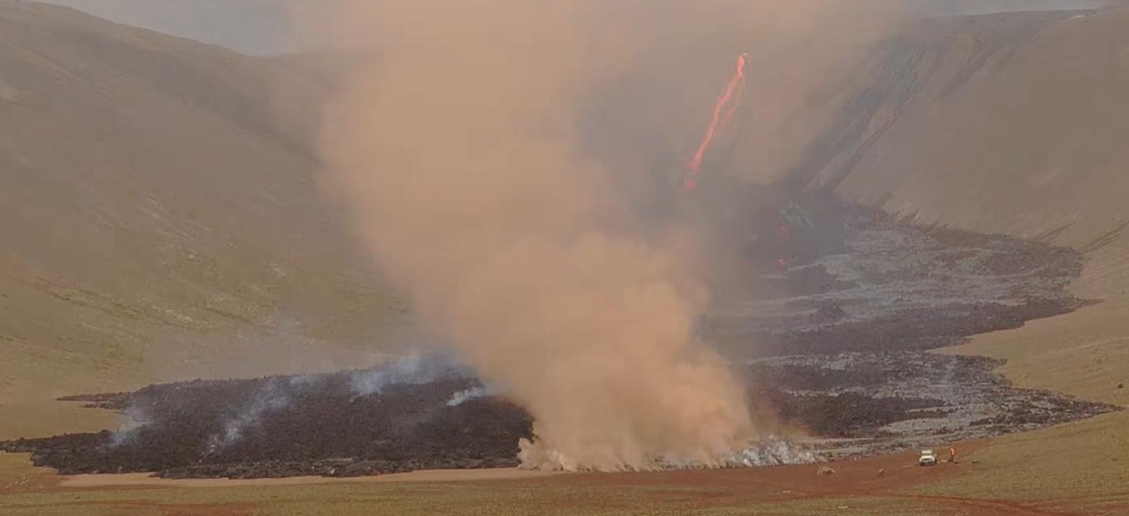 The wildfire in Nátthagi valley.