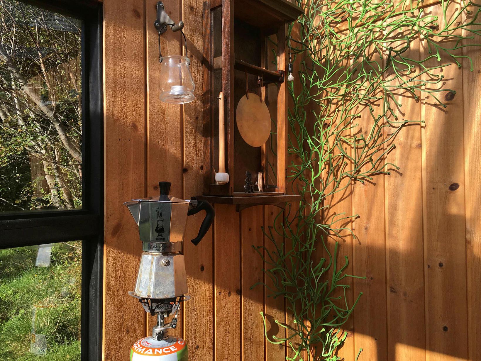 Kaffi og gong út í sveitinni.