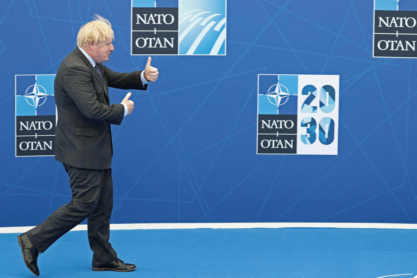 Boris Johnson, forsætisráðherra Bretlands, var glaður að sjá er hann …