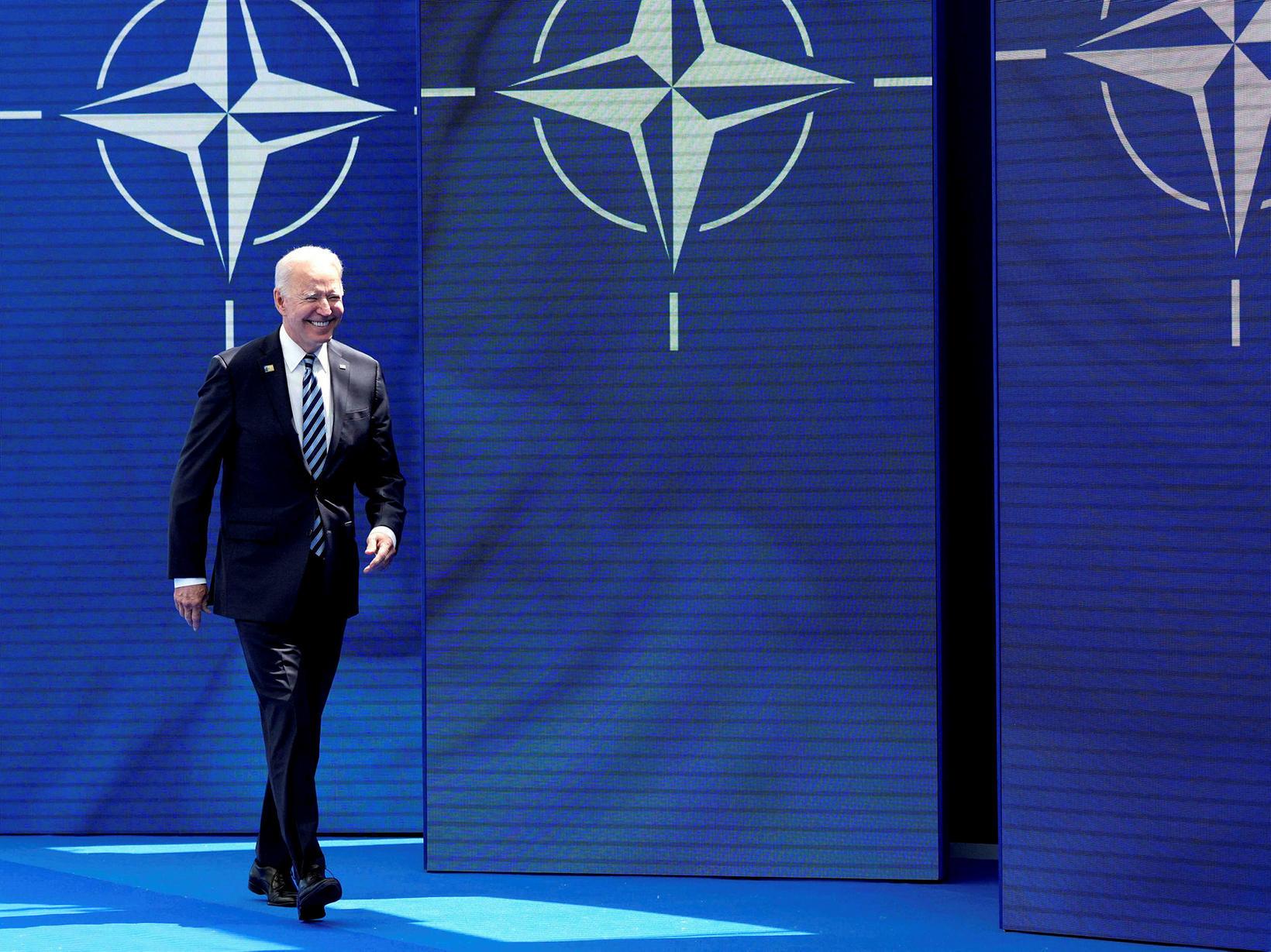 Joe Biden, forseti Bandaríkjanna mætir á sinn fyrsta leiðtogafund NATO …