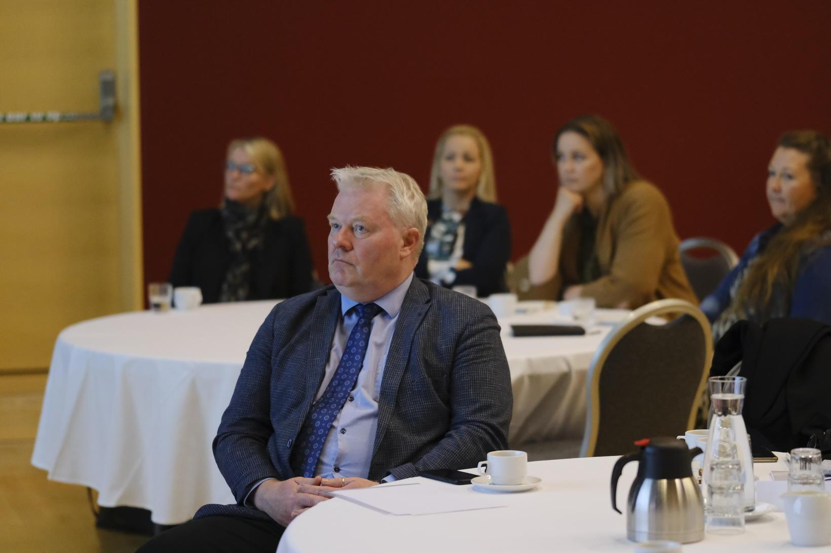 Sigurður Ingi Jóhannsson, samgöngu- og sveitarstjórnarráðherra, á fundinum í dag.