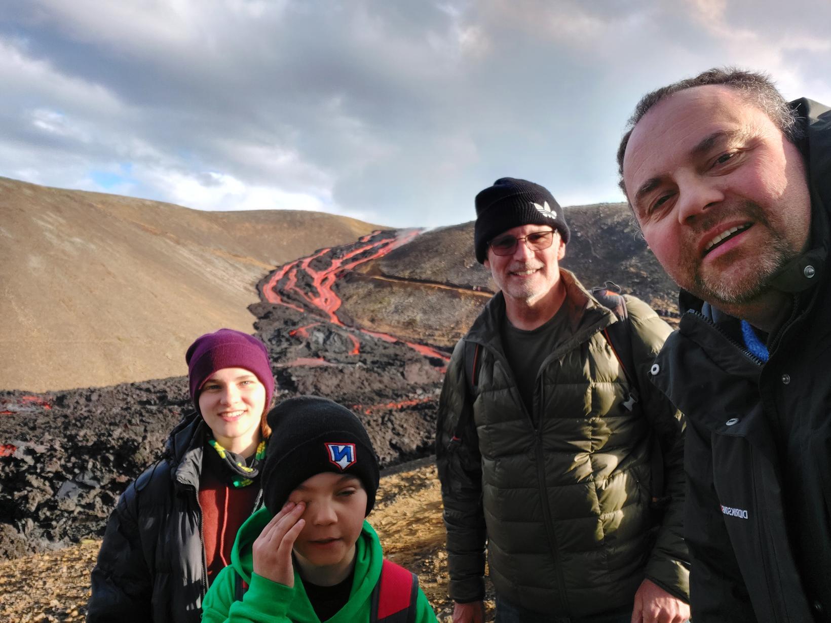 Frá vinstri: Una Rós, Reynir Hörður, Don Barri og Gísli.