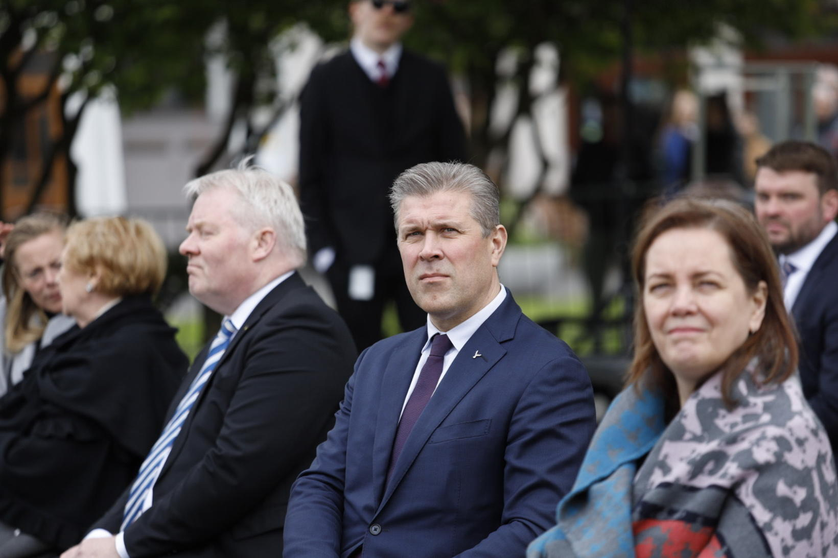 Ráðherrarnir Sigurður Ingi Jóhannesson, Bjarni Benediktsson og Svandís Svavarsdóttir.