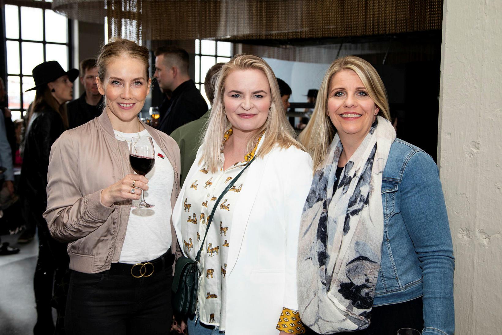 Hrefna Lind Ásgeirsdóttir, Berglind Hafliðadóttir og Eva Jósteinsdóttir.