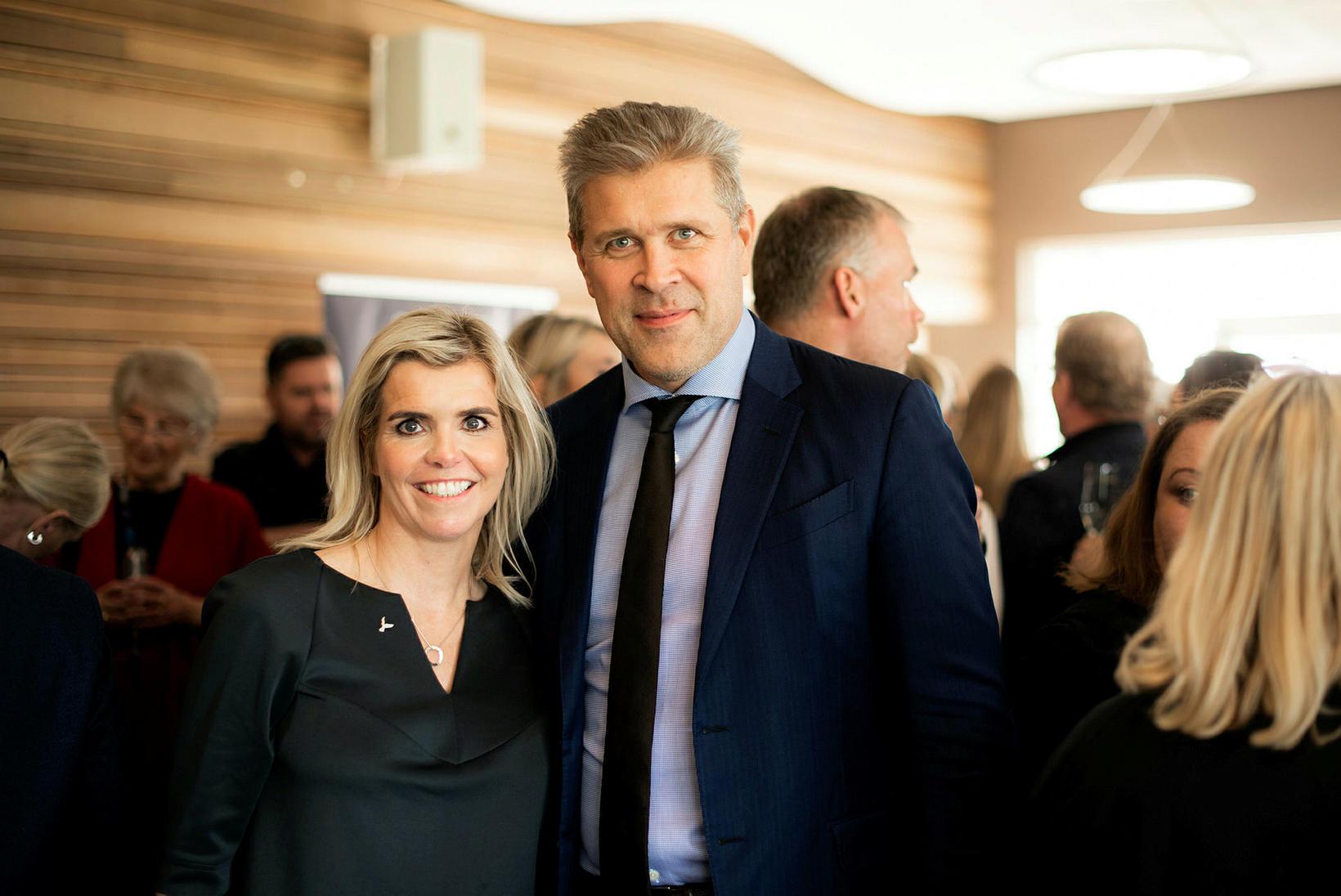 Sigþrúður Ármann og Bjarni Benediktsson.
