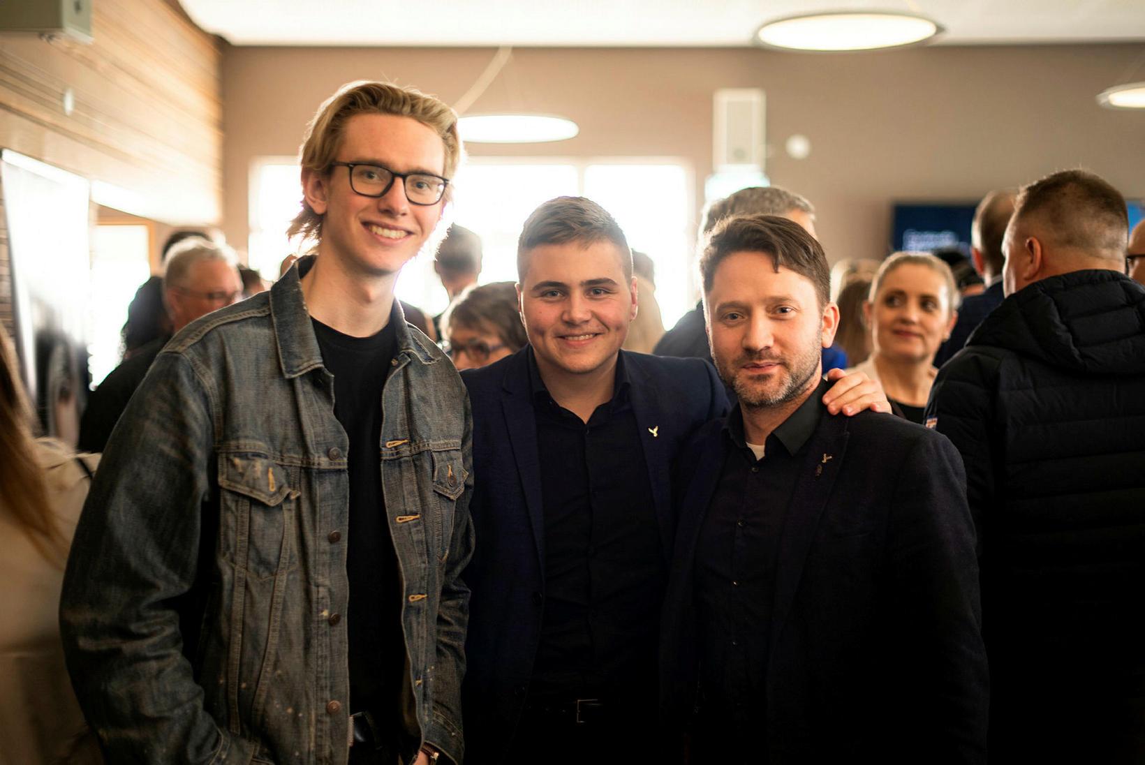 Árni þór Guðjónsson, Birkir og Hannes Þorvaldsson.