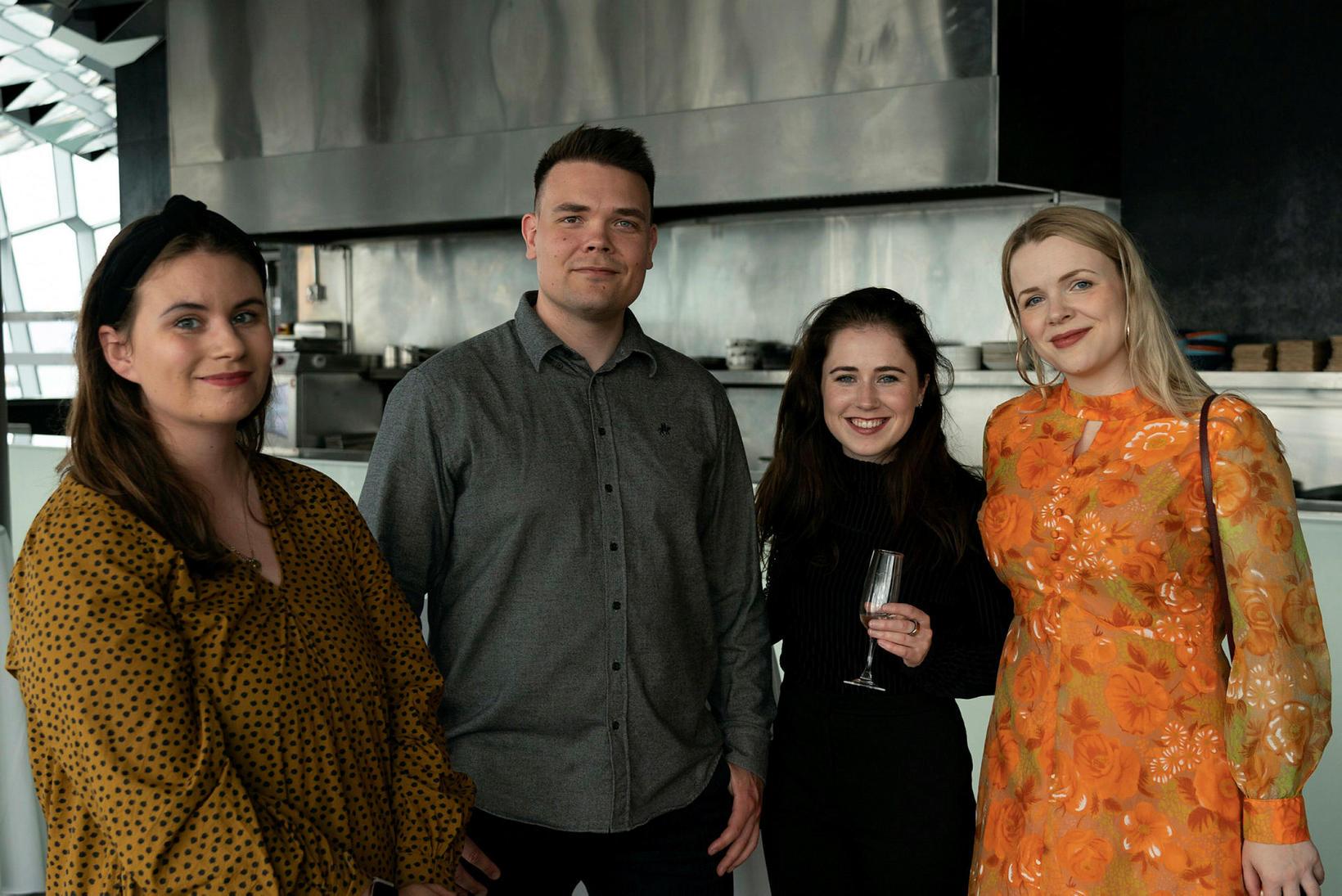 Auður Albertsdóttir, Eiríkur Sigurðsson, Rakel Tómasdóttir og Anna Marsíbil Clausen.
