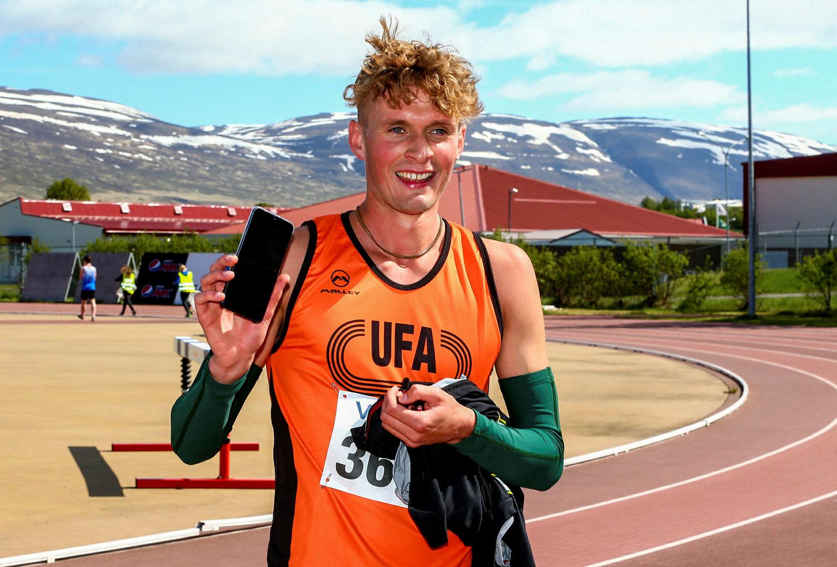 Baldvin Þór Magnússon varð þriðji í 1.500 m hlaupinu.
