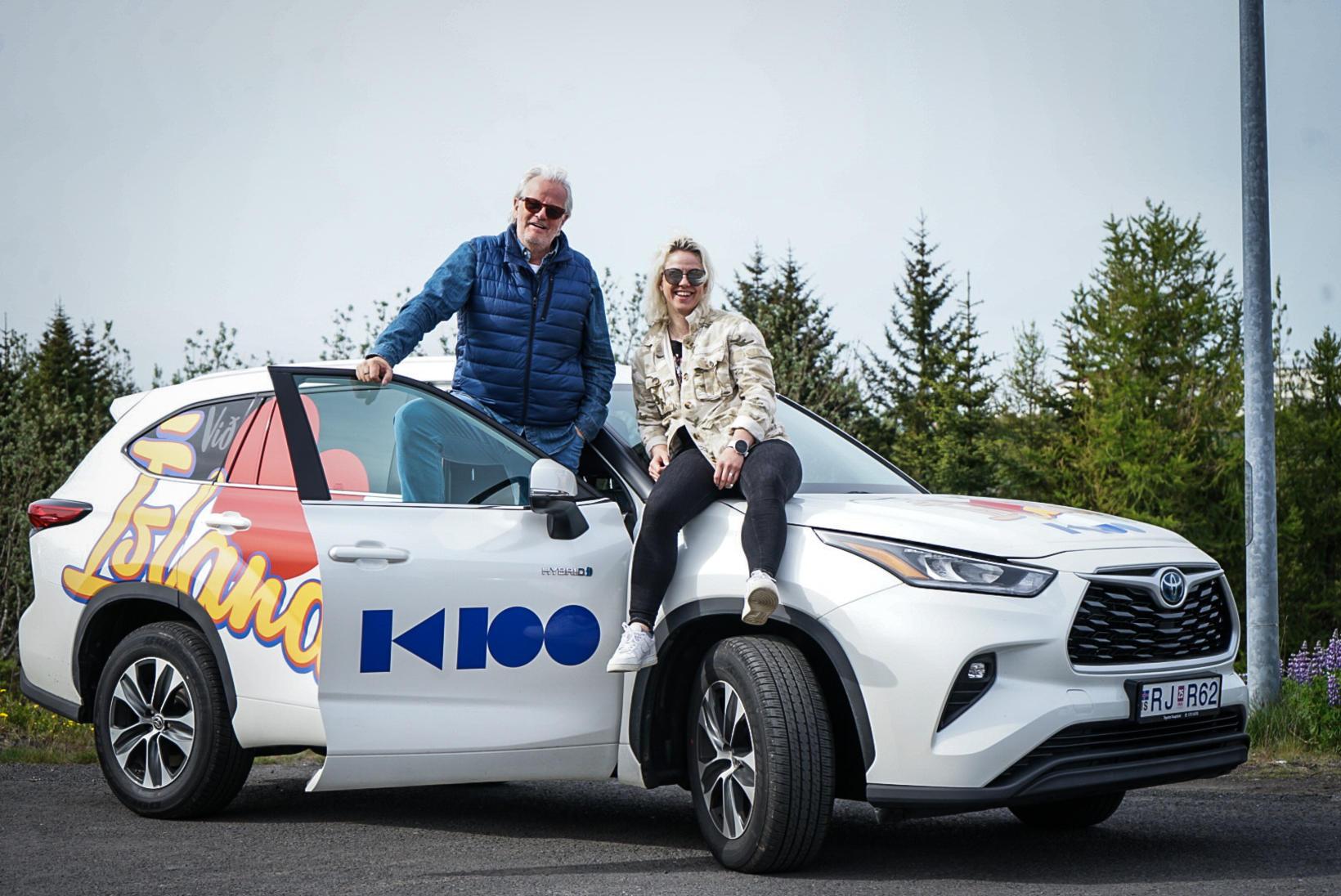Jón og Stína ferðuðust vestur á Toyota Highlander og verða …