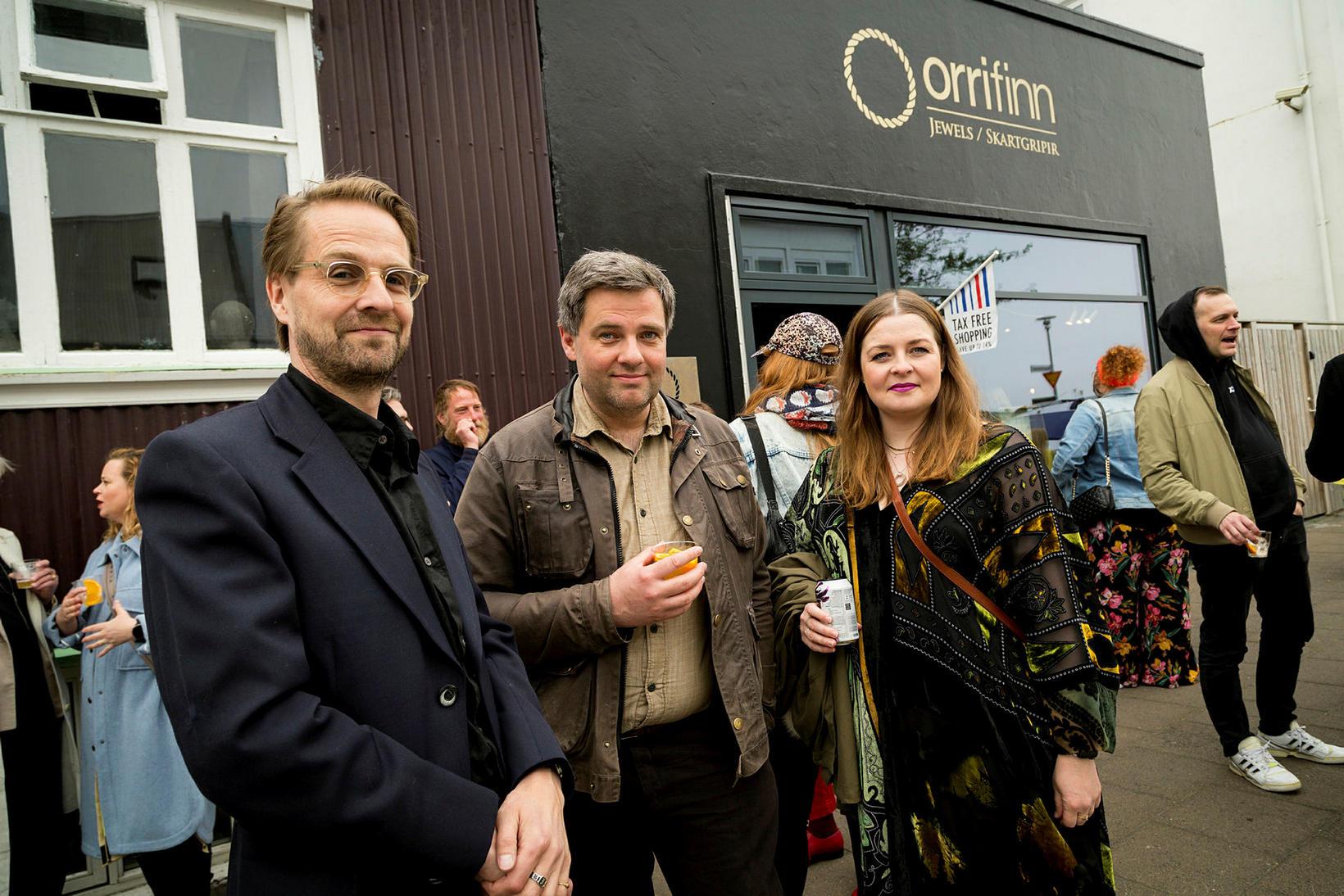 Ófeigur Sigurðsson, Tjörfi Bjarnason og Heiðrún Sigurðardóttir