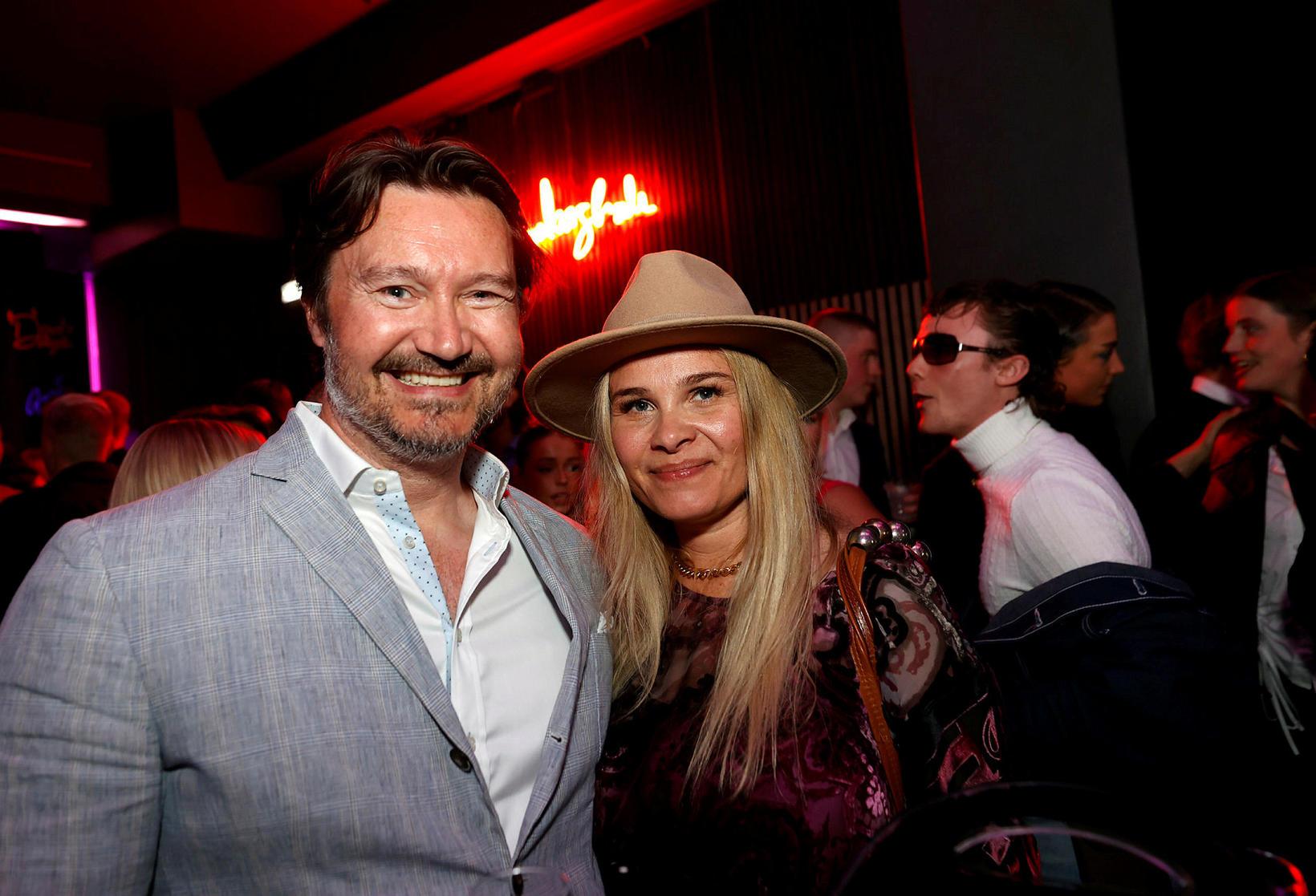 Aron P. Karlsson og Nína Björk Gunnarsdóttir.