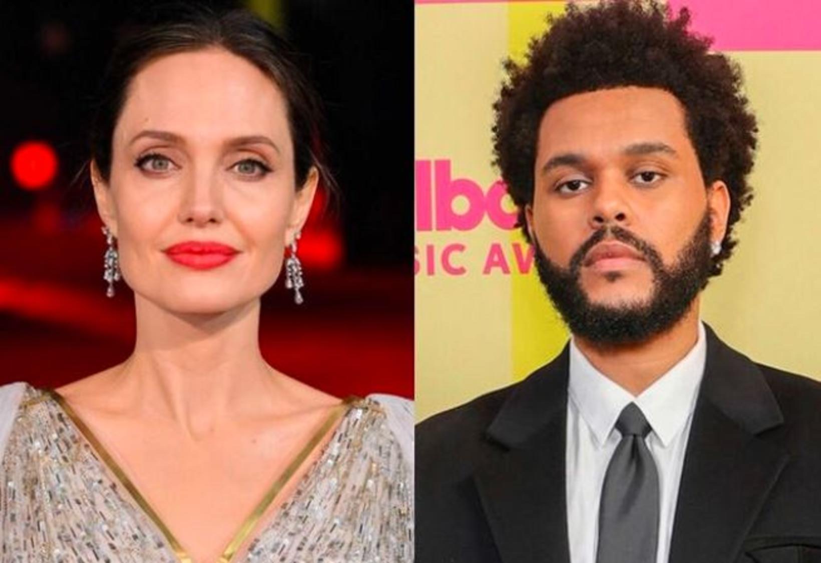Angelina Jolie og The Weeknd virðast vera að hanga eitthvað …