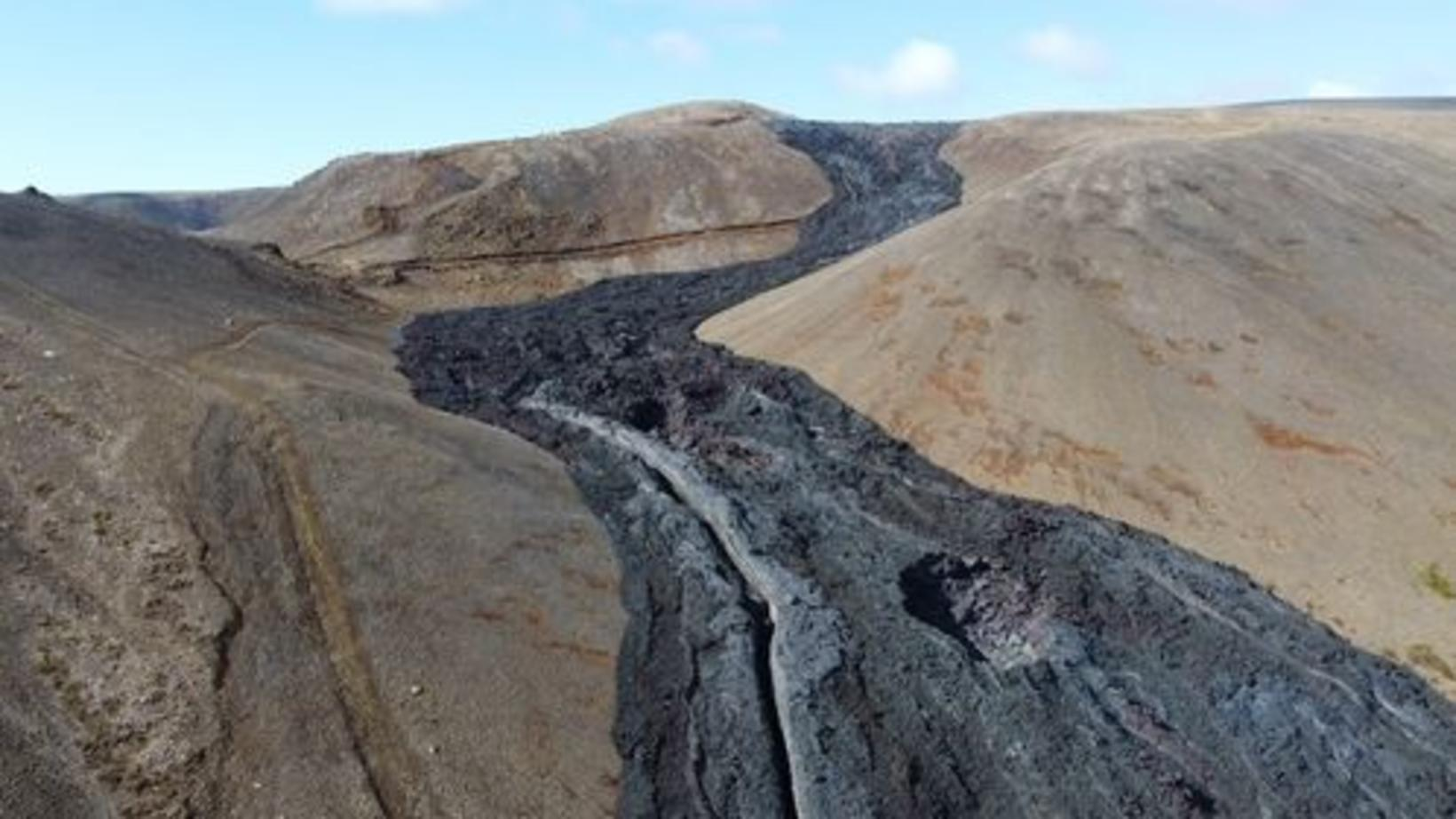 Lava near Fagradalsfjall.