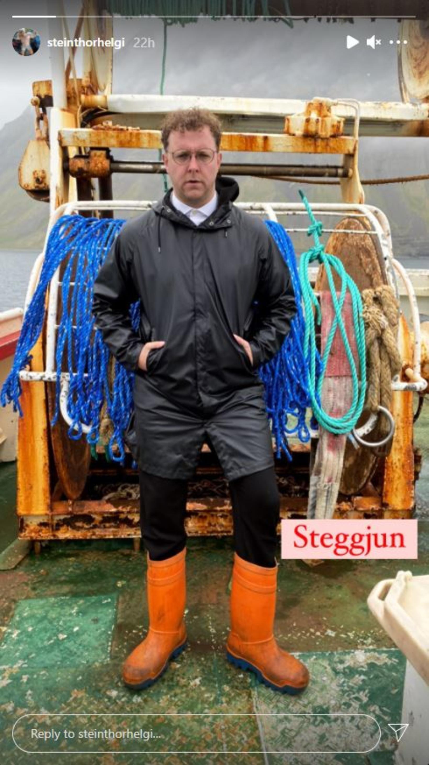 Steinþór Helgi í eigin steggjun.