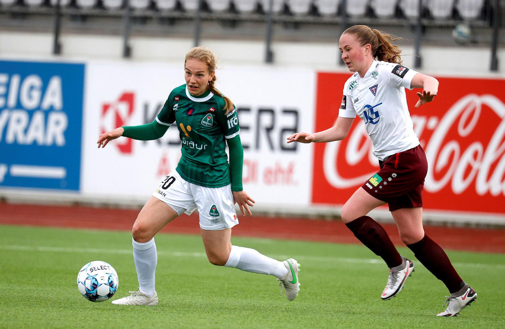 Áslaug Munda Gunnlaugsdóttir skoraði tvö mörk í kvöld.