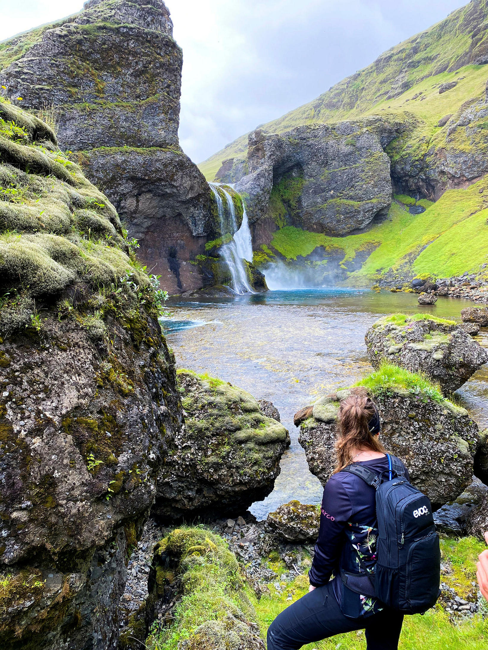 Horft í átt að Hagafossi.