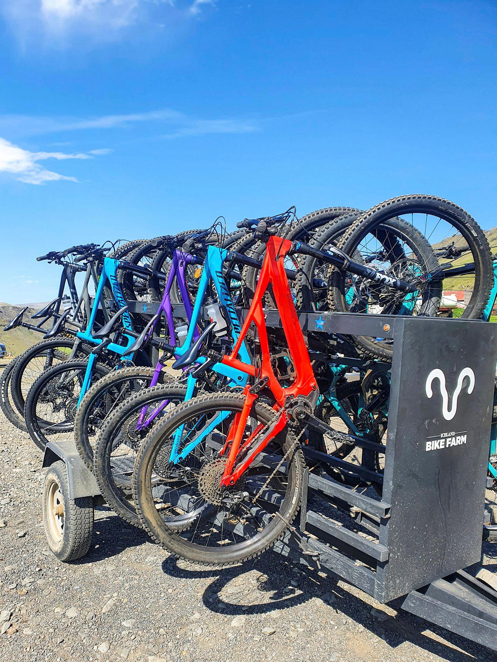 Hjólakerran á Iceland Bike Farm er einstök.