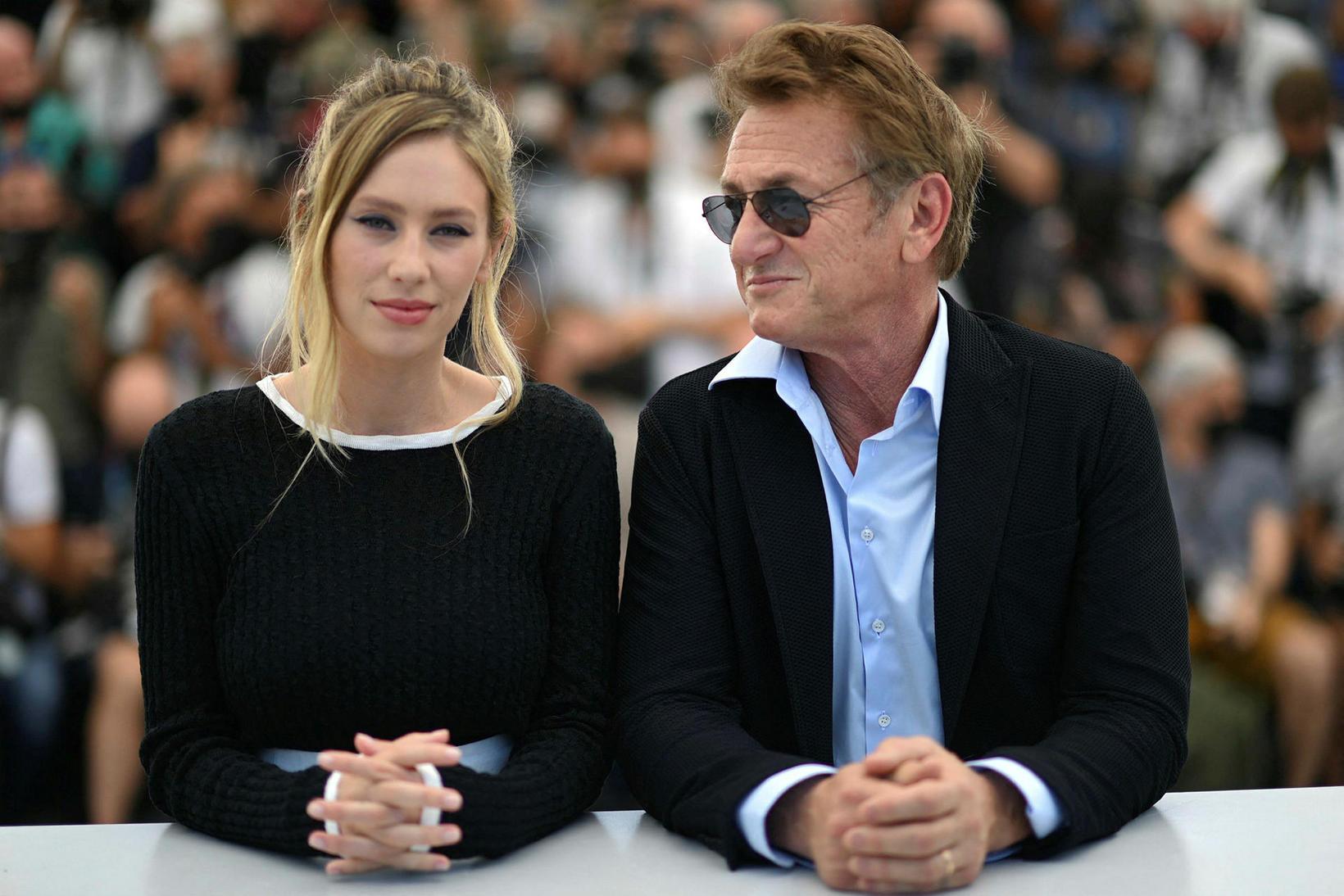 Feðginin Dylan Penn og Sean Penn.