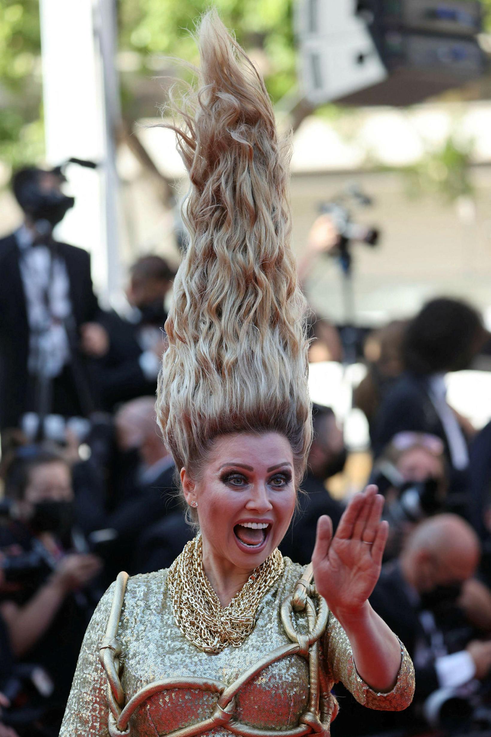 Elena Lenina á frumsýningu Benedetta í Cannes þann 9. júlí.