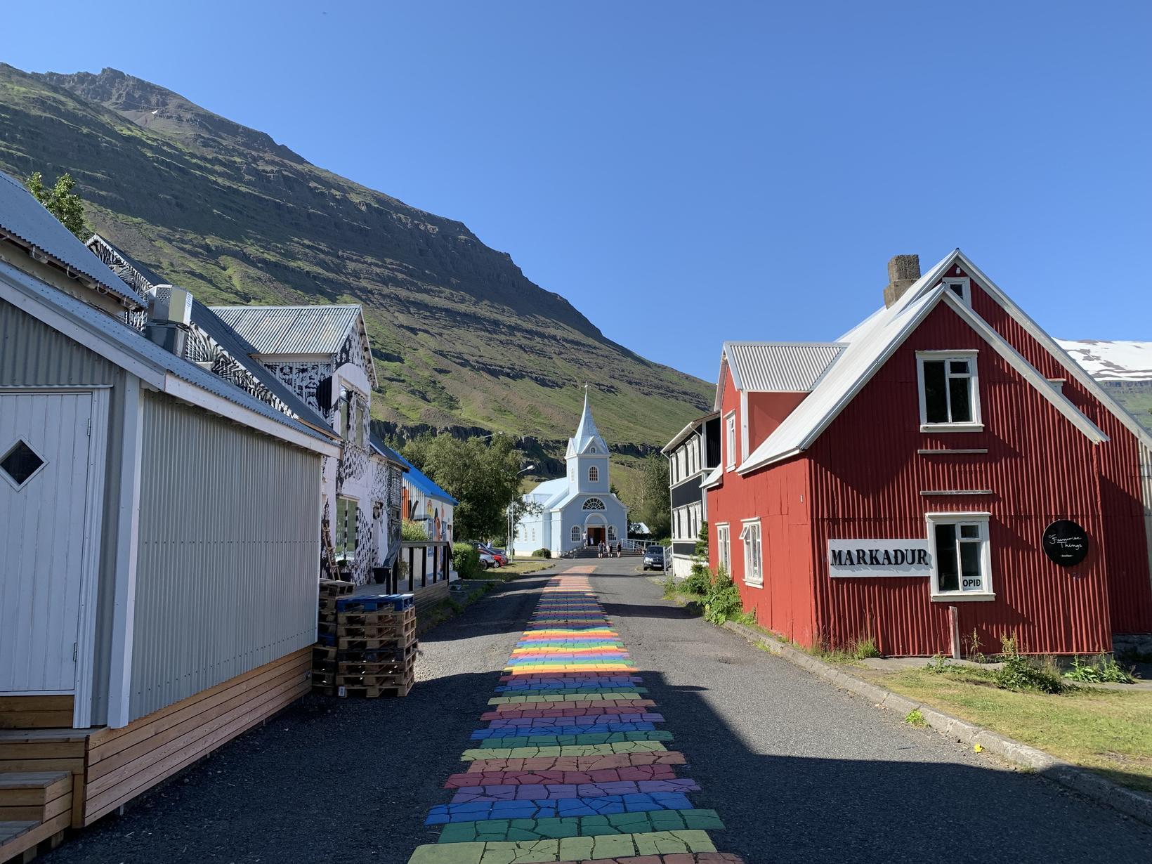 The beautiful town of Seyðisfjörður is going to be full …