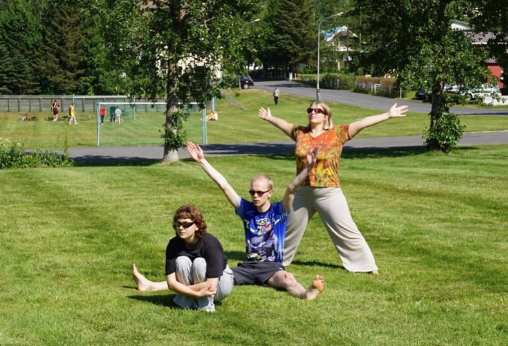 Movement workshop on LungA Festival.