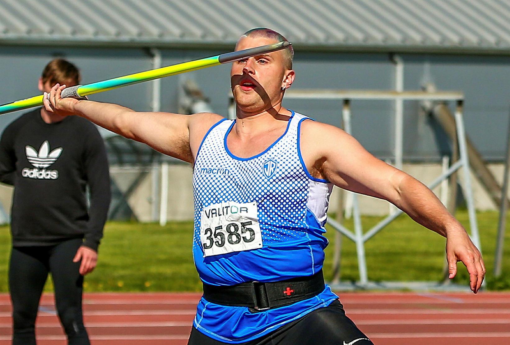 Dagbjartur Daði Jónsson vann spennandi spjótkastkeppni.