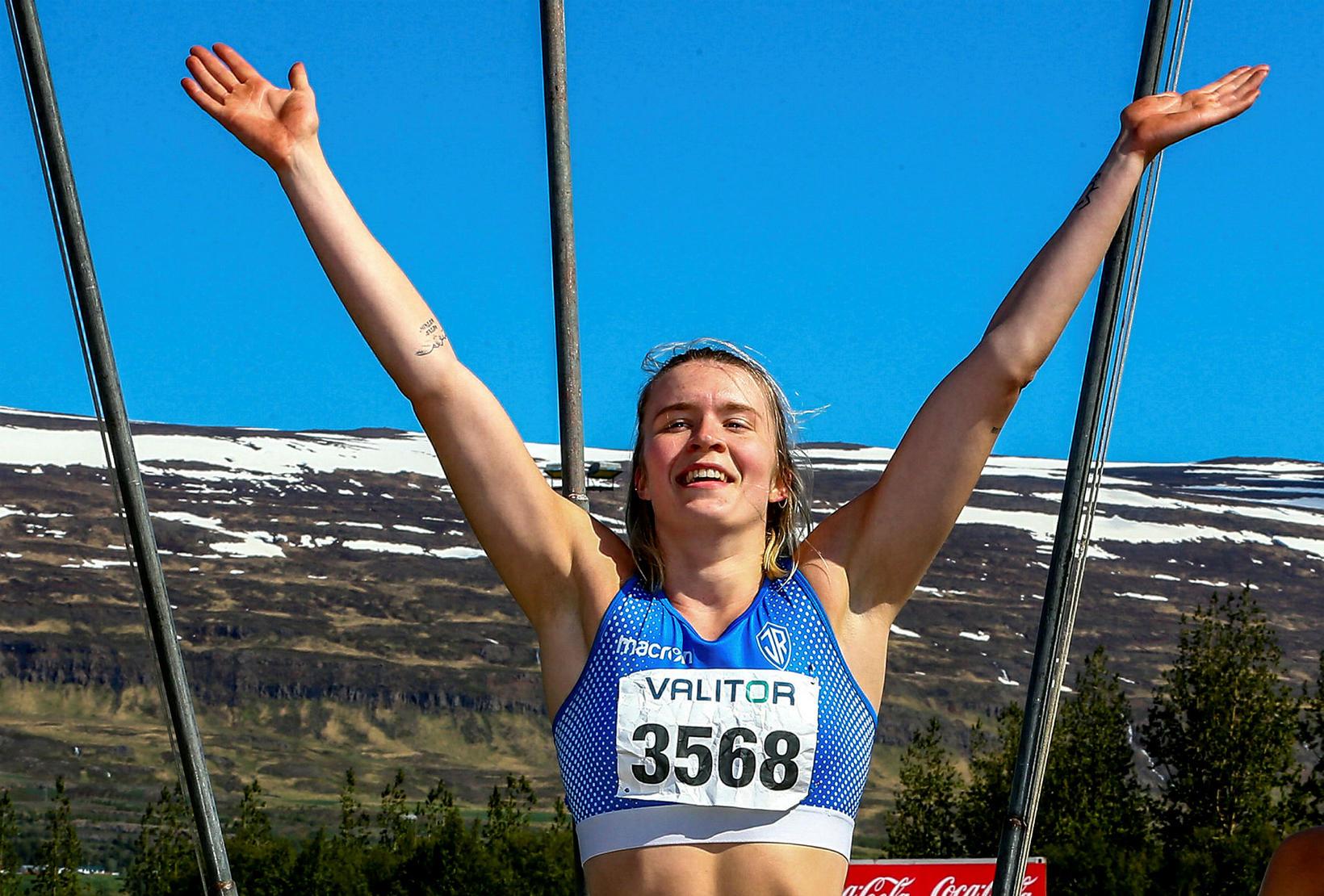 Guðbjörg Jóna Bjarnadóttir vann í 200 metra hlaupi.