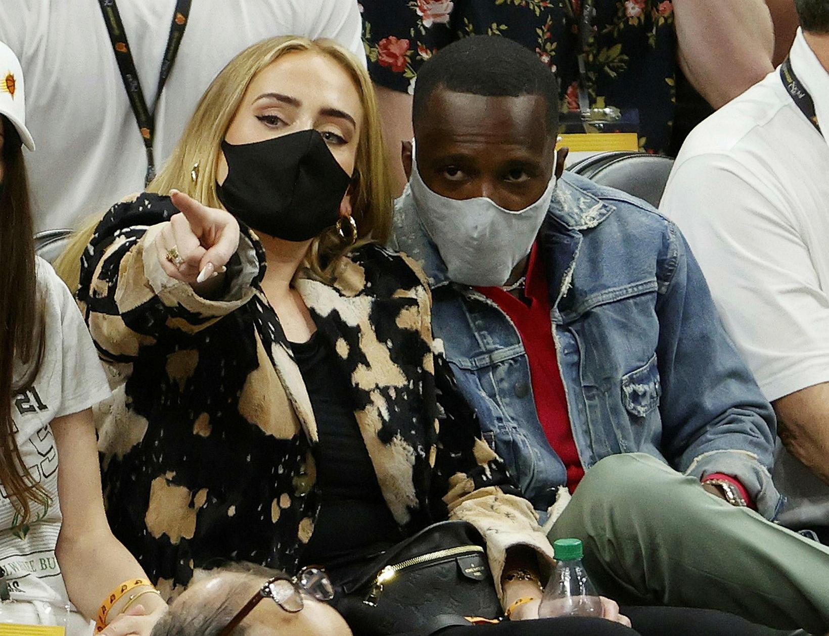 Adele og Rich Paul