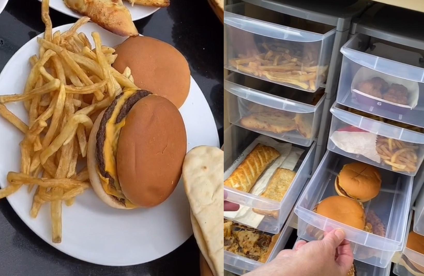 McDonalds hamborgarar og franskar eru meðal þess sem næringarfræðingur nokkur …