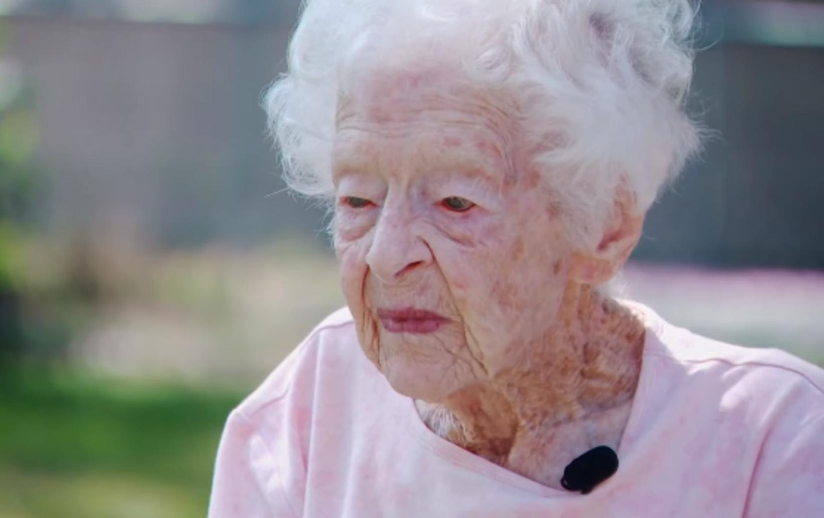 Hin 99 ára gamla Mary O'Neill er afar þakklát fyrir …
