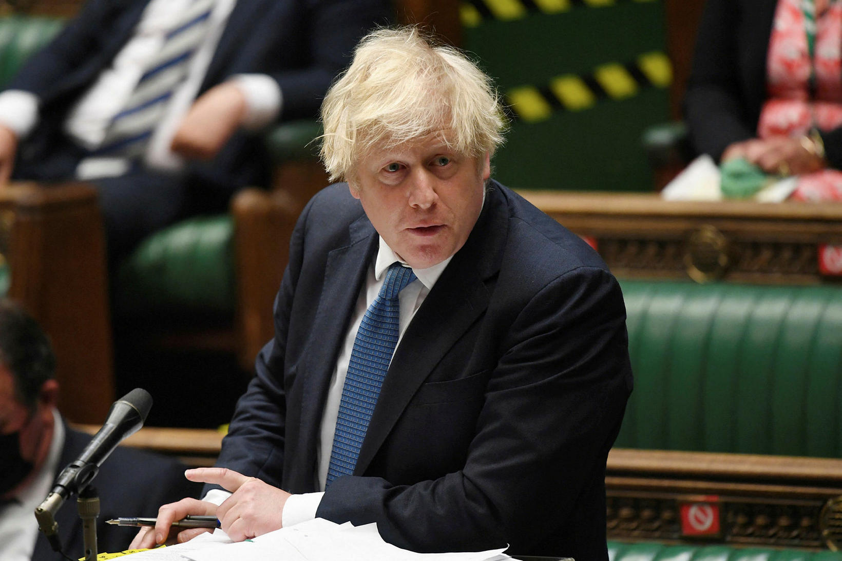 Boris Johnson tilkynnti afléttingar allra sóttvarnaaðgerða á mánudag og varð …