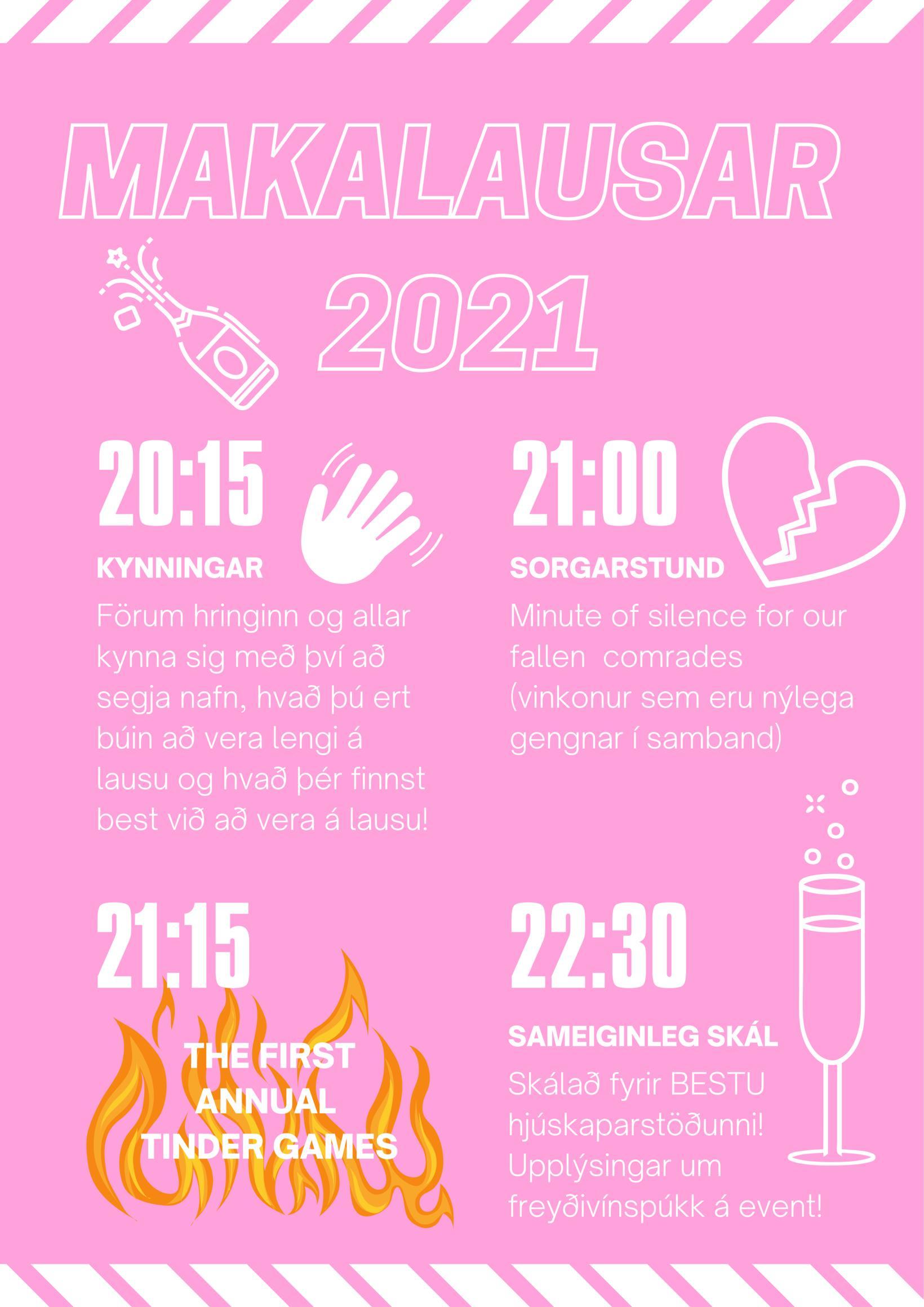 Hér má sjá dagskrá einhleyputeitisins 2021. Teitið er því miður …
