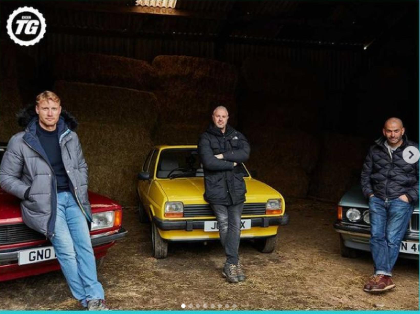 """Núverandi þáttastjórnendur Top Gear eru Andrew """"Freddie"""" Flintoff, Grínistinn Paddy …"""
