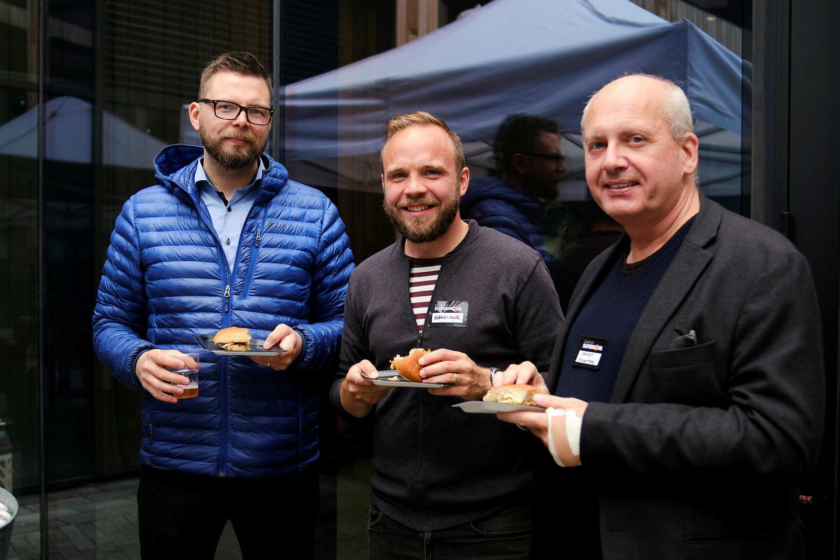 Haukur Guðjónsson, Haraldur Húgósson og Eggert Claessen.