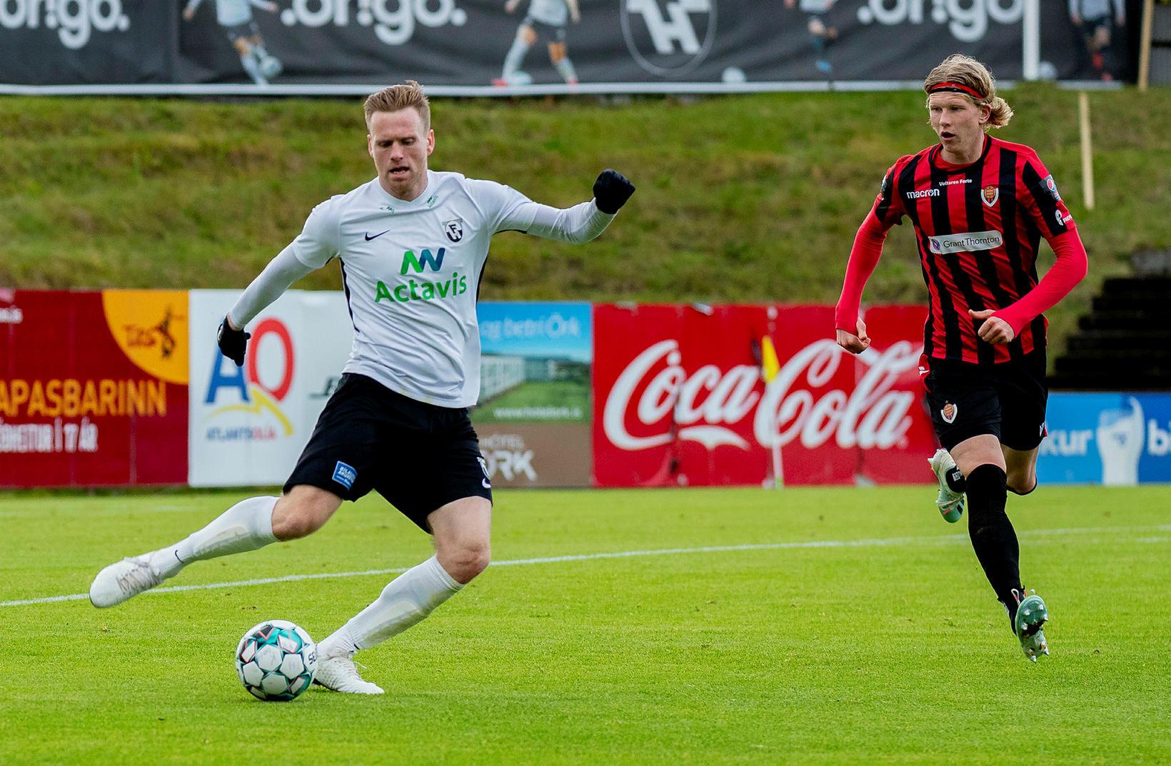 Guðmann Þórisson skoraði fyrir FH í kvöld.