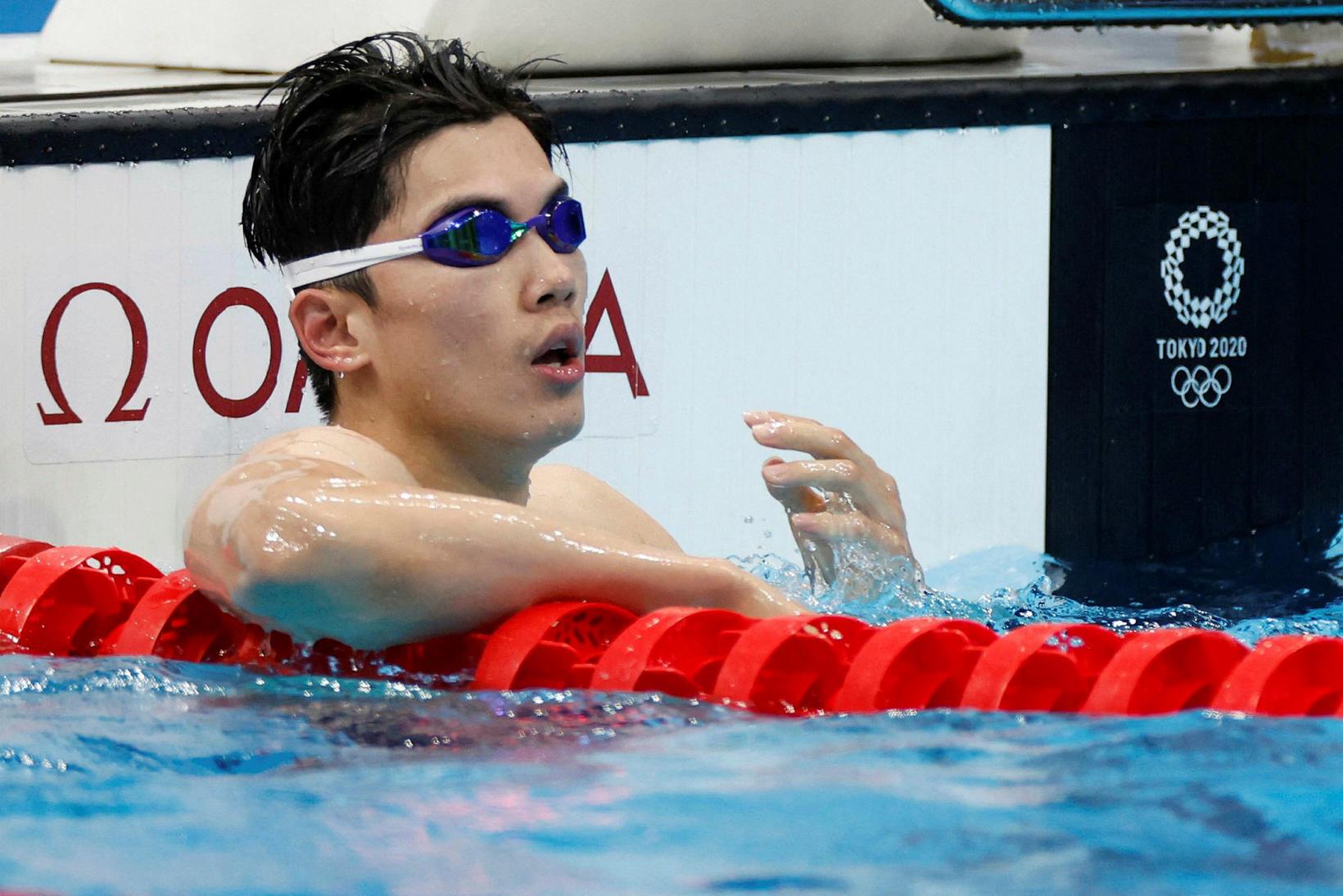 Shun Wang er ólympíumeistari í 200 metra fjórsundi karla.