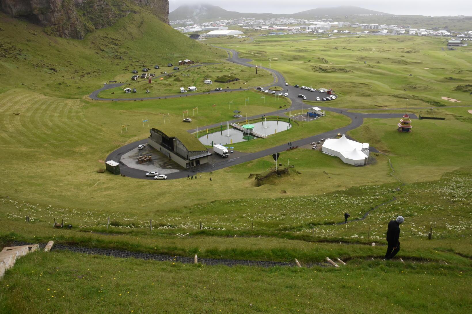 Herjólfsdalur, heimavöllur Þjóðhátíðar, í allri sinni dýrð.