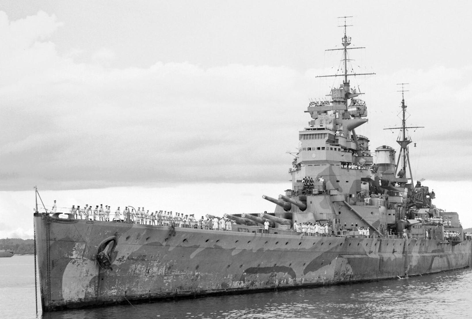 HMS Prince of Wales. The photo was taken in Singapore …