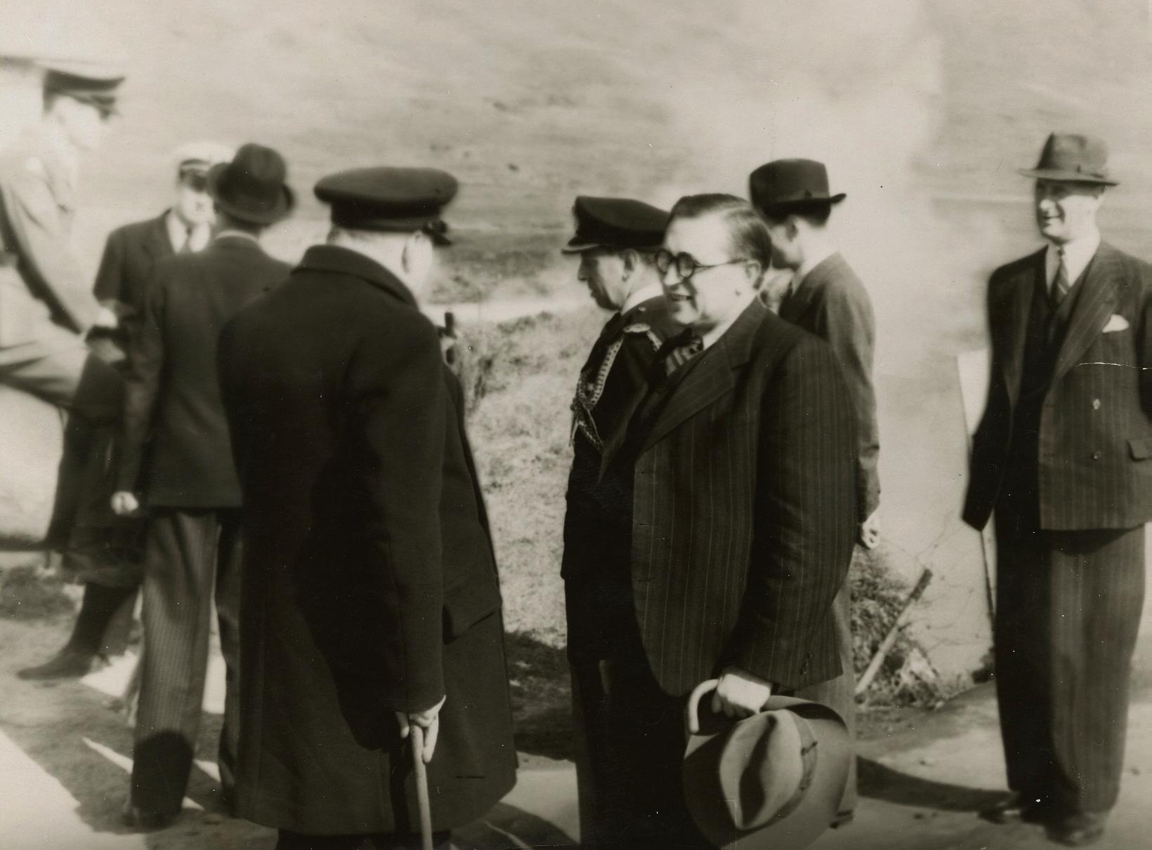 PM Churchill og Valtýr Stefánsson, editor of Morgunblaðið.
