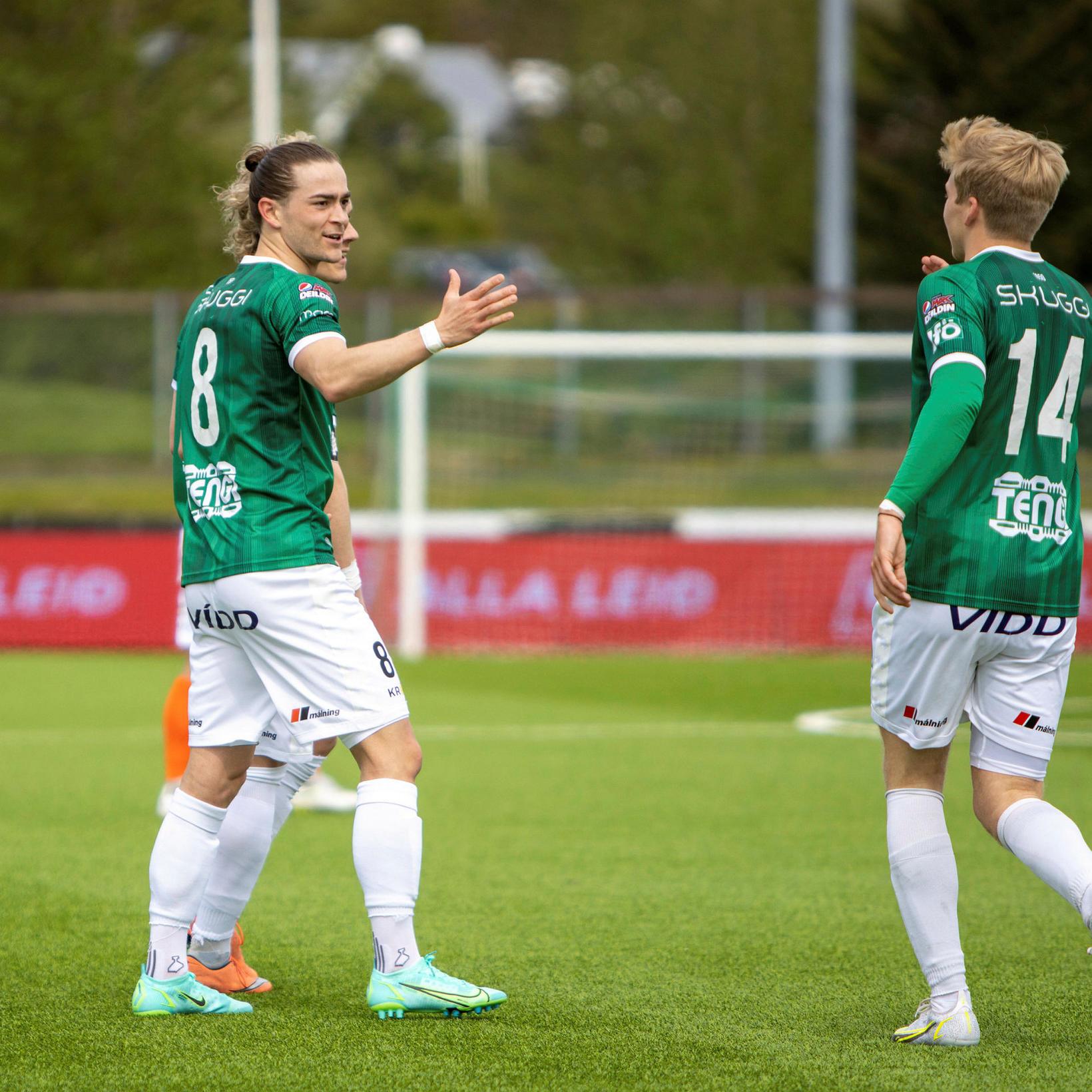 Viktor Karl Einarsson skoraði síðara mark Breiðabliks í kvöld.