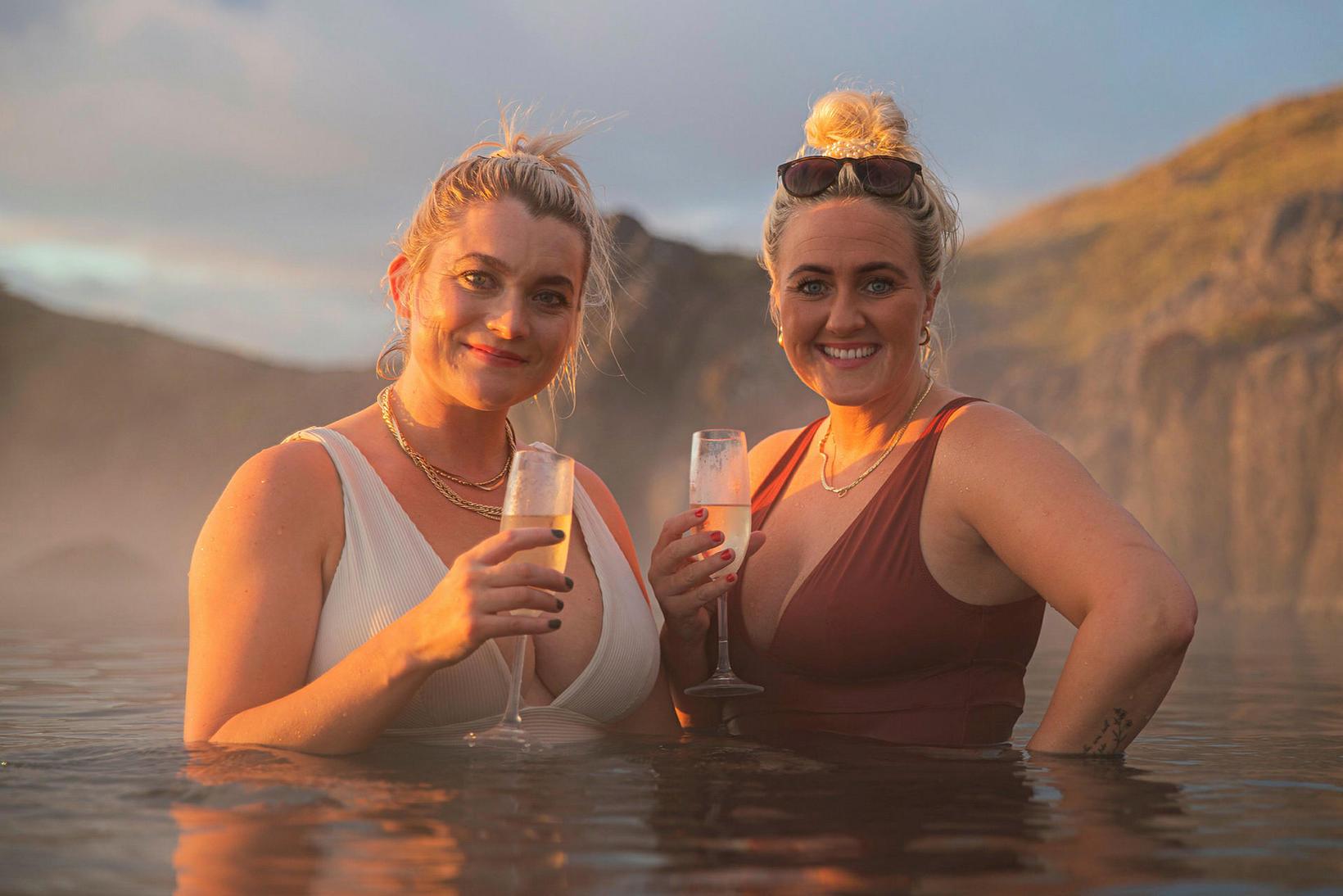 Gyða Kristjánsdóttir og Guðrún Erla Hilmarsdóttir.