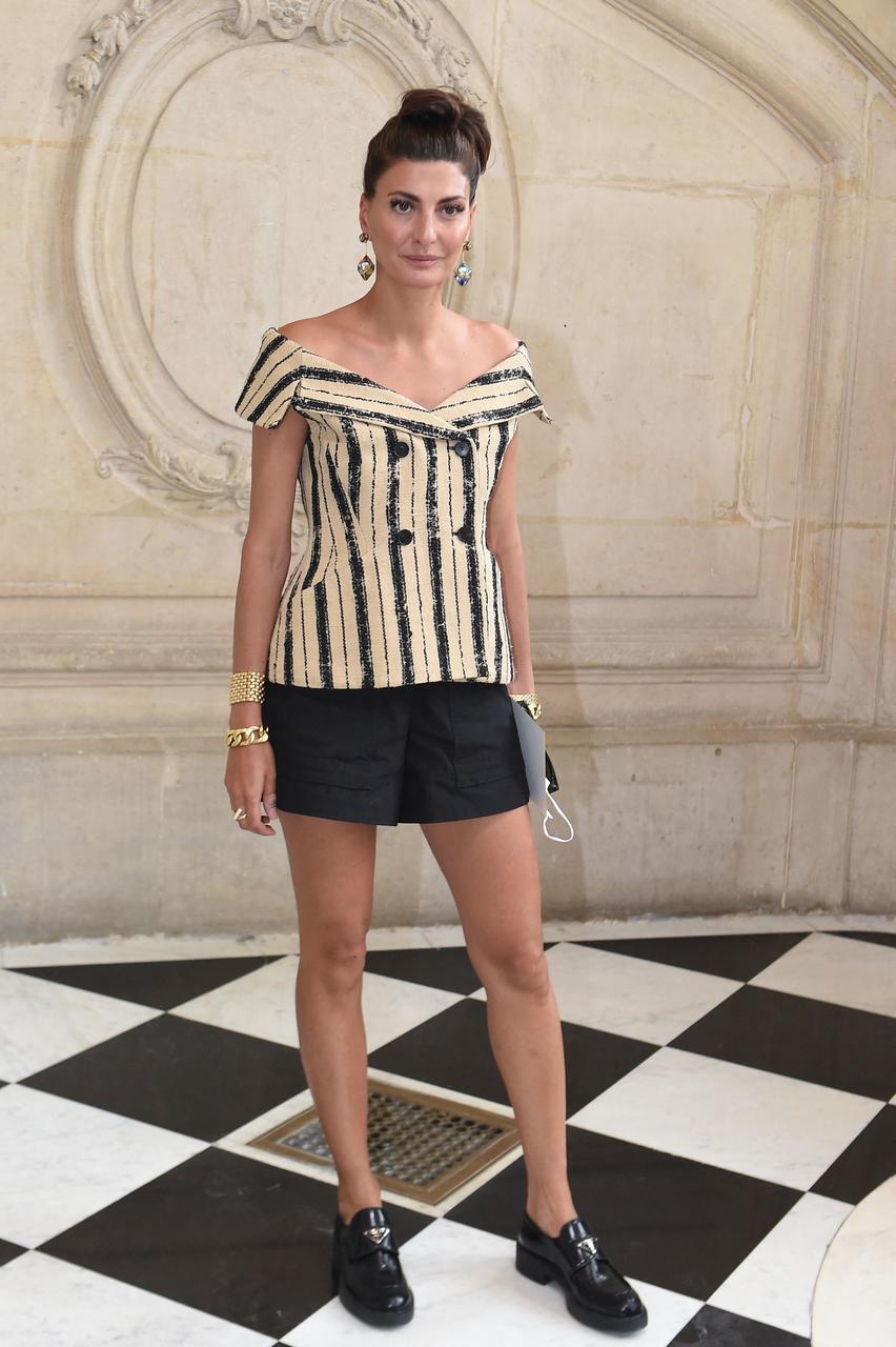 Ítalski tískuleiðtoginn Giovanna Battaglia á tískusýningu Dior.