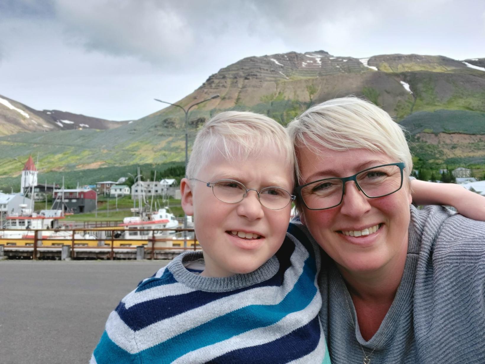 Ægir og Hulda elska að dansa og deila gleðinni með …