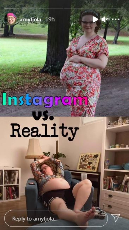 Árny birti skemmtilega myndir af sér á Instagram.